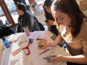 The CHE-WA Tweet MASTER at work, Krysta Thornton, American Lung Association,  along with Hanady Kader, EPA Region 10